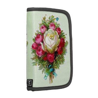 Retro Vintage Rose Bouquet Green Planners