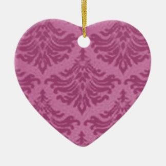 Retro Vintage Rose Pink Heart Ornament