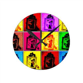 retro vintage russian frame ussr nostalgia round wall clocks