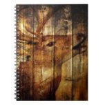 Retro vintage rustic country  barn woodgrain deer journal