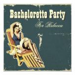 retro vintage sailor bachelorette party invitation
