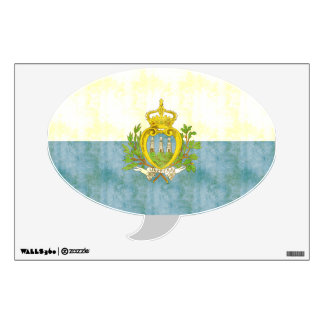 Retro Vintage San Marino Flag Wall Sticker