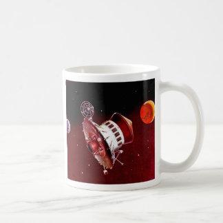 Retro Vintage Sci Fi 1967 Mars Lander Coffee Mug