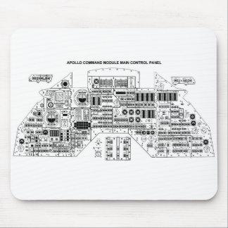 Retro Vintage Sci Fi Apollo Command Module Mouse Pad