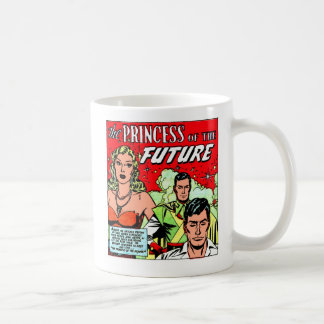 Retro Vintage Sci Fi Comic Princess of the Future Coffee Mug