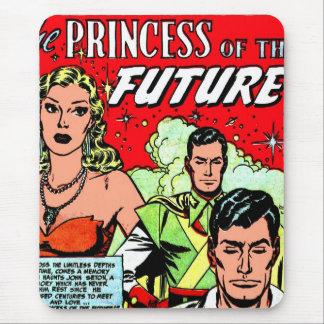 Retro Vintage Sci Fi Comic Princess of the Future Mouse Pad