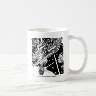 Retro Vintage Sci Fi Earth Transport attack Alien Coffee Mug