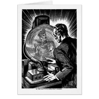 Retro Vintage Sci Fi Fantasy 'Whirling Mirror' Card