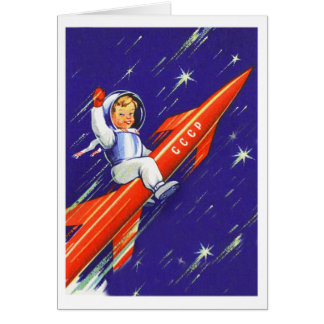 Retro Vintage Sci Fi 'Happy Little Cosmo' Card