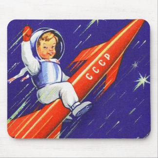 Retro Vintage Sci Fi 'Happy Little Cosmo' Mouse Pad