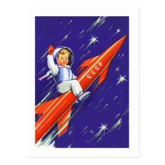 Retro Vintage Sci Fi Happy Little Cosmo Postcards