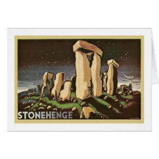 Retro Vintage Sci Fi History 'Stonehenge' Greeting Card