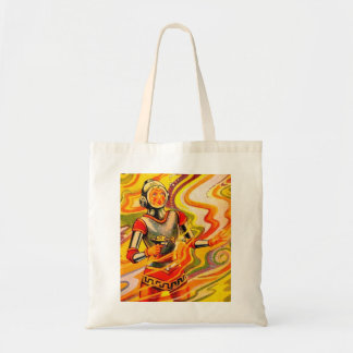 Retro Vintage Sci Fi Kitsch Space Girl Tote Bags