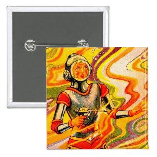 Retro Vintage Sci Fi Kitsch Space Girl Pin