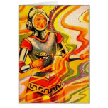 Retro Vintage Sci Fi Kitsch Space Girl Cards