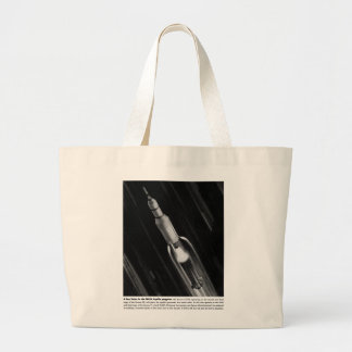 Retro Vintage Sci Fi NASA 'Saturn Rocket' Jumbo Tote Bag
