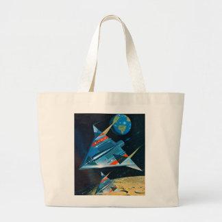 Retro Vintage Sci Fi Nasa Space Flight L-15 Tote Bags