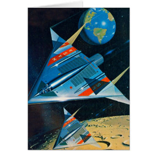 Retro Vintage Sci Fi Nasa Space Flight L-15 Card