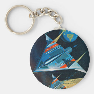 Retro Vintage Sci Fi Nasa Space Flight L-15 Basic Round Button Keychain