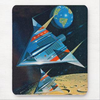 Retro Vintage Sci Fi Nasa Space Flight L-15 Mouse Pad