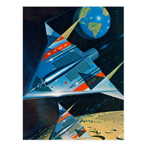 Retro Vintage Sci Fi Nasa Space Flight L-15 Postcard