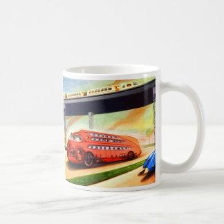 Retro Vintage Sci Fi Nazi German Bus of Future Coffee Mug