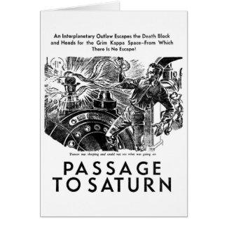 Retro Vintage Sci Fi 'Passage To Saturn' Story Art Greeting Cards