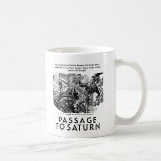 Retro Vintage Sci Fi 'Passage To Saturn' Story Art Coffee Mug