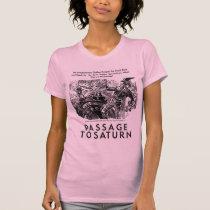 Retro Vintage Sci Fi 'Passage To Saturn' Story Art T-Shirt