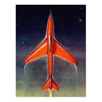 Retro Vintage Sci Fi Space Plane X-1 Postcard