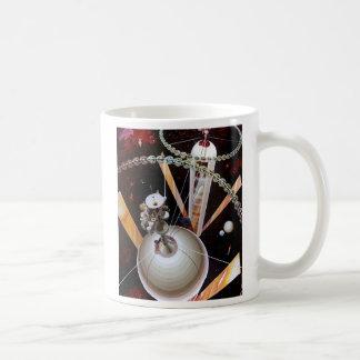 Retro Vintage Sci Fi 'Space Station Concept' Coffee Mug