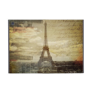 retro vintage scripts paris Effiel Tower fashion Case For iPad Mini