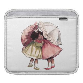 Retro Vintage Secret Friends Girls Umbrella Sissy iPad Sleeve