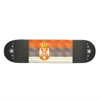 Retro Vintage Serbia Flag Custom Skate Board