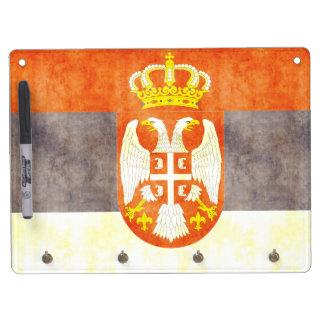 Retro Vintage Serbia Flag Dry Erase Boards