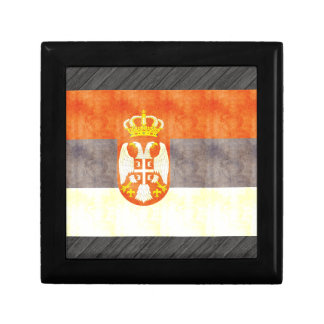 Retro Vintage Serbia Flag Gift Boxes