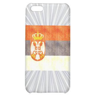Retro Vintage Serbia Flag iPhone 5C Cases