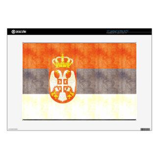 Retro Vintage Serbia Flag Laptop Skin