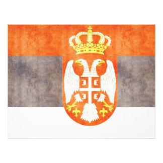 Retro Vintage Serbia Flag Personalized Flyer