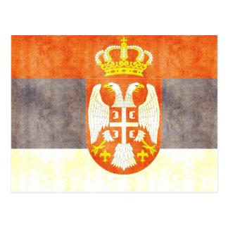 Retro Vintage Serbia Flag Postcards
