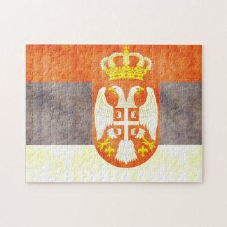 Retro Vintage Serbia Flag Puzzle