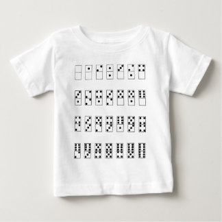 retro vintage set of dominoes baby T-Shirt