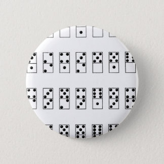 retro vintage set of dominoes button