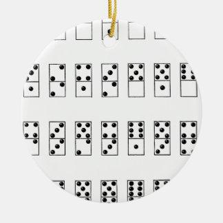 retro vintage set of dominoes ceramic ornament
