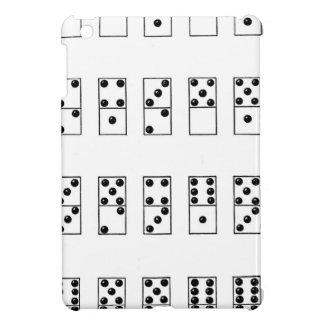 retro vintage set of dominoes iPad mini cover