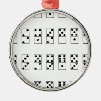 retro vintage set of dominoes metal ornament