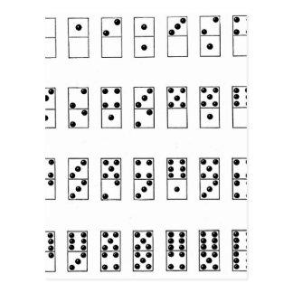 retro vintage set of dominoes postcard