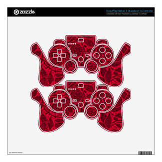Retro Vintage Shells Red Placemats Skin For PS3 Controller