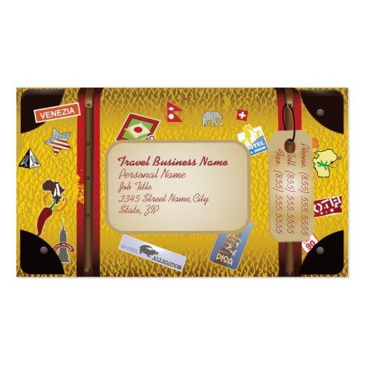 Retro Vintage Siutcase Travel Agency Business Card