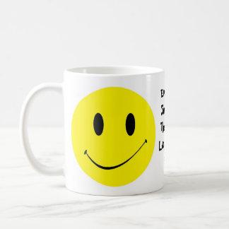 Retro Vintage Smiley Face Happy Smile Grin Mug Cup